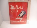 Millers Oils emaille bord brighouse 30x40 cm Nieuw !!!!