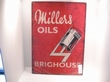 Millers Oils emaille bord brighouse 50x70 cm Nieuw !!!